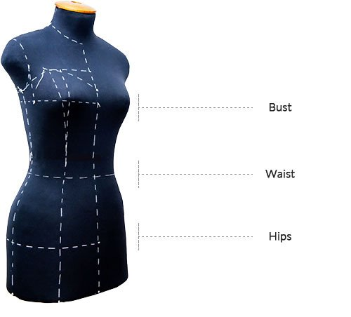 Measurements-of-bust-waist-hips